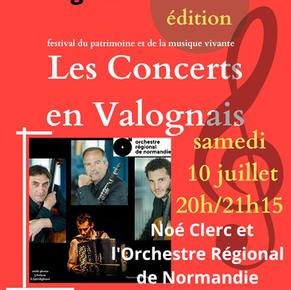LES CONCERTS EN VALOGNAIS - 10 juillet 2021 - Concerts promenades 1