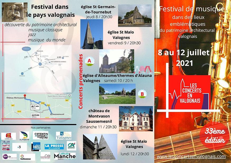 Plan d'accès Les Concerts en Valognais