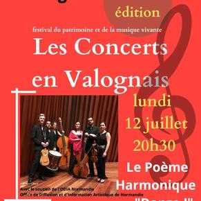 Les Concerts en Valognais 12 juillet 2021