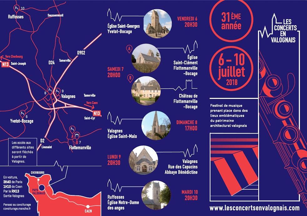 Les concerts en Valognais - Plan d'accès