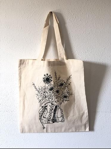 Chalk Bag Full of Flowers Market tote