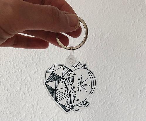 I Heart sToKed Keychain