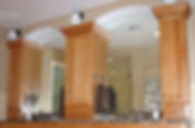 custom master bath, arched mirrors, dual vanities, custom tile work
