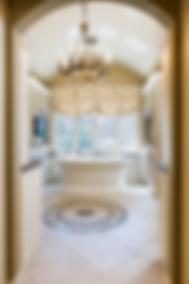 custom bath remodel, gladwyne, pa. , radiant heat, round ceiling