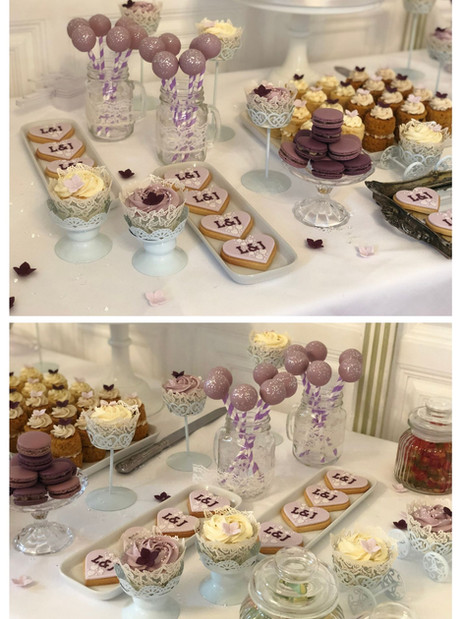 Purple and lilac theme  dessert table | Jip's Cakes | Wedding cakes Suffolk | Wedding favours Suffolk | Wedding cakes Essex & Hertfordshire