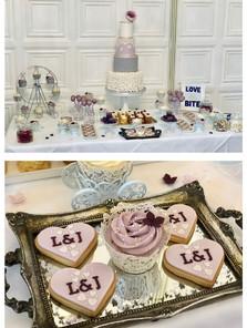 Purple and lilac theme  dessert table   Jip's Cakes   Wedding cakes Suffolk   Wedding favours Suffolk   Wedding cakes Essex & Hertfordshire