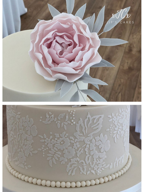 Timeless Ivory Charm | Jip's Cakes : wedding cakes Essex & Hertfordshire