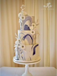 Blue marble Cake   Jip's Cakes   Wedding cakes Essex & Hertfordshire