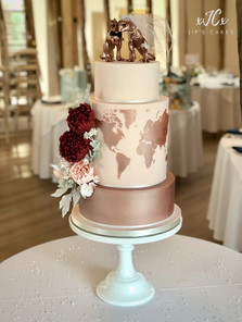 Travel theme wedding cake   Jip's Cakes : wedding cakes Essex & Hertfordshire