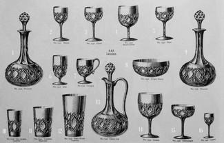 Виды хрустальной посуды в конце XIX начале XX веков