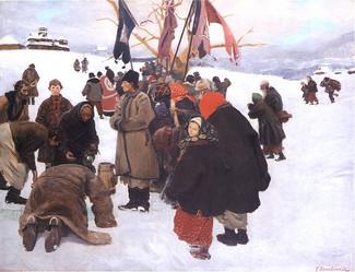 Как праздновали Крещение Господне в деревнях Российской Империи