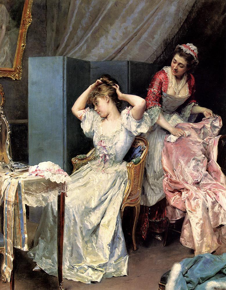 Раймундо де Мадрасо и Гаррета. Дама за туалетом. 1890-1900 гг. Частная коллекция