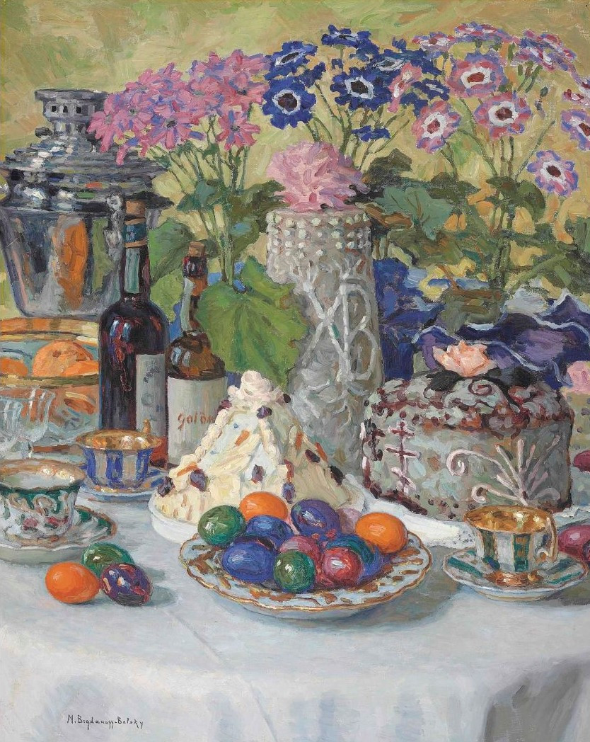 Пасха. Nikolai Bogdanov-Belsky (1868-1945). On Easter day.