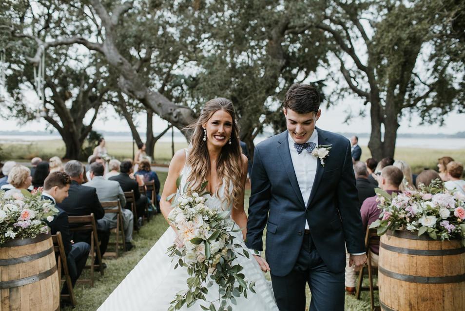 Neutral wedding at Lowndes Grove Charleston, SC
