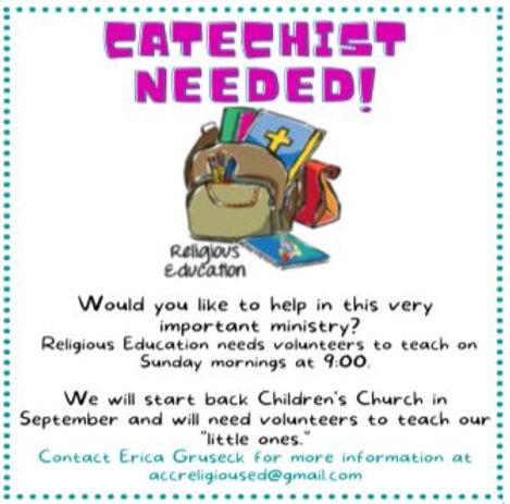 Catechist needed.JPG