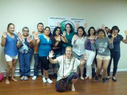 Energy healing workshop teaching .