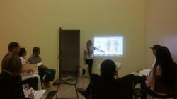 Reflexology teaching.