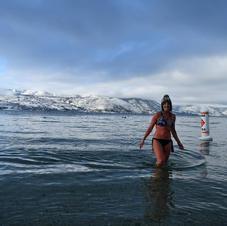 Christmas Snow Swim