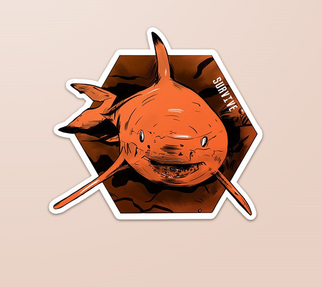 Sticker Example (Shark)