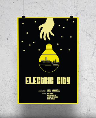 Electric City Fan Poster