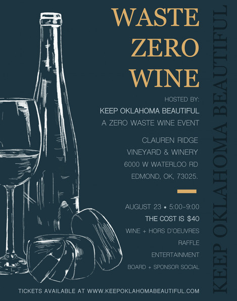Waste Zero Wine Poster