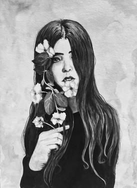Inky Flowers