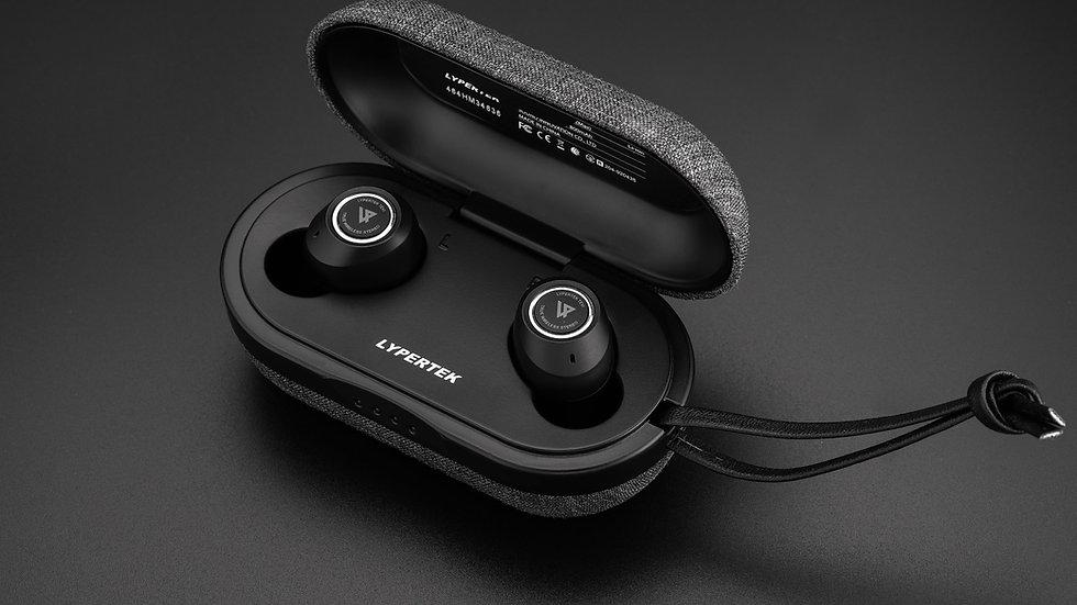 LYPERTEK TEVI - Truly Wireless Earphones, Bluetooth 5.0, Qualcomm Chipset, IPX7.