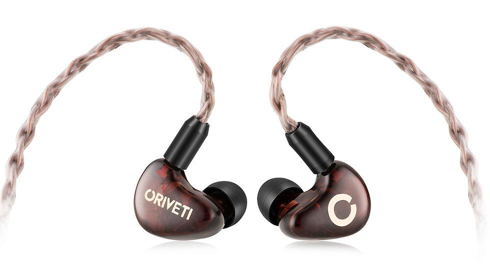 ORIVETI OH500 - Premium 4+1 Hybrid HiFi IEM Headphones