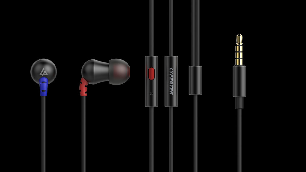LYPERTEK - MEVI, HiFi sound quality, In-Ear Headphones w/ universal Remote & Mic