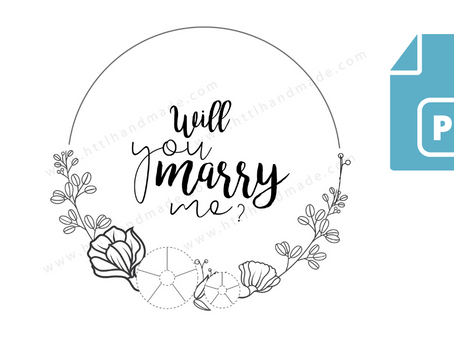 Download Embroidery Pattern | Will you marry me Typography