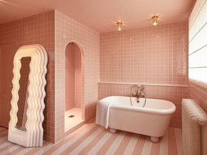 Bathroom design ideas for blush pink lovers