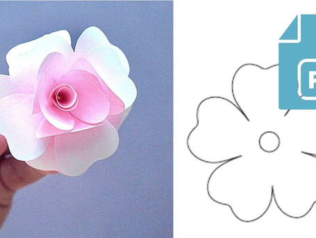Free Template of Rose Paper Flower | Happy mother's day