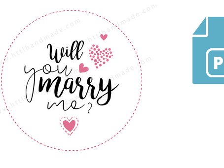 Download Embroidery Pattern | Will you marry me | Type 2