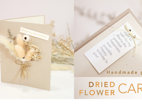 How to make a dried flower card for Mother's day