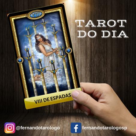 TAROT DO DIA 18/09/2019 - VIII DE ESPADAS