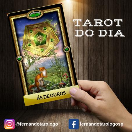 TAROT DO DIA 09/09/2019 - ÁS DE OUROS