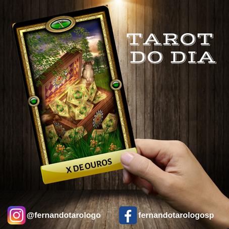 TAROT DO DIA 31/08/2019 - X DE OUROS