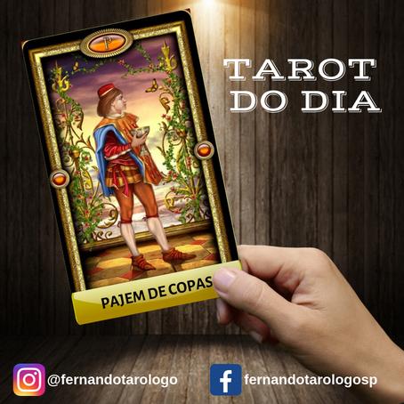 TAROT DO DIA 08/09/2019 - PAJEM DE COPAS