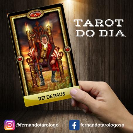 TAROT DO DIA 15/09/2019 - REI DE PAUS