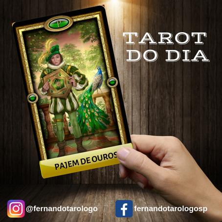 TAROT DO DIA 17/09/2019 - PAJEM DE OUROS