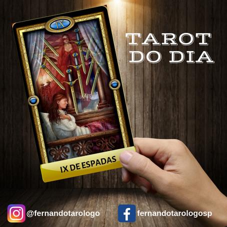 TAROT DO DIA 02/09/2019 - IX DE ESPADAS