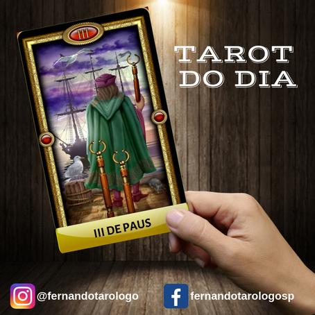 TAROT DO DIA 16/09/2019 - III DE PAUS