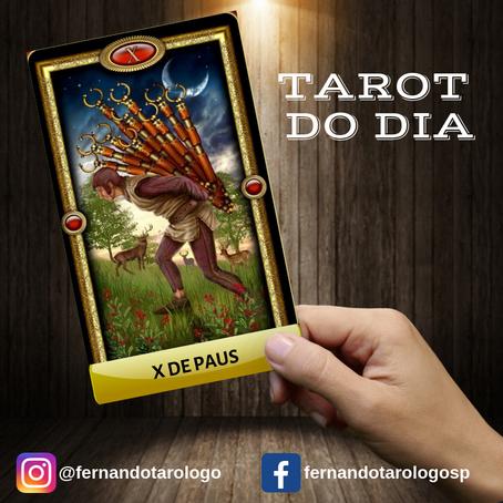 TAROT DO DIA 28/08/2019 - X DE PAUS