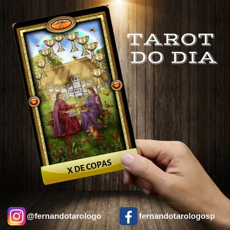 TAROT DO DIA 14/09/2019 - X DE COPAS