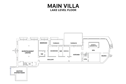 Main Villa Plan - Lake Level Floor