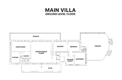 Main Villa Plan - Ground Floor