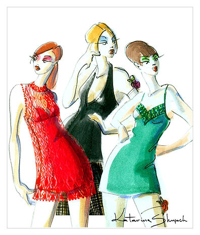 mode illustration - fashion illustration, Katarina Skupch