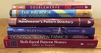 Stack of weaving books