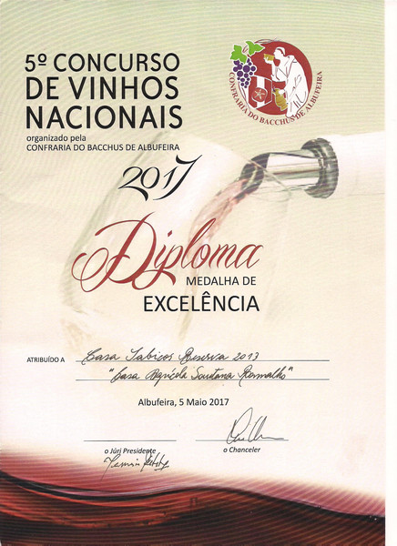 Casa de Sabicos Reserva 2013 ganha Medalha de Excelência no 5º Concurso de Vinhos Nacionais