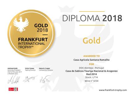 Medalha de Ouro em Frankfurt para o Casa de Sabicos Touriga Nacional & Aragonez 2014